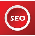 SEO icon on red vector image vector image