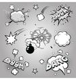 set comics boom vector image vector image