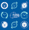Set of graphic web 24 hours timers vector image vector image