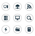 set of simple laptop icons vector image vector image