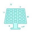 solar panel icon design vector image