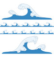 splashes sea waves vector image