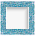 square frame with cutout lace border pattern vector image vector image