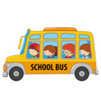 student taking school bus vector image vector image