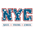 T shirt typography graphic New York chic vector image