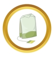 Teabag of green tea icon vector image vector image