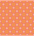 tile summer pattern with yellow and white dots vector image vector image