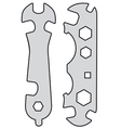 Universal spanners vector image