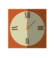 wall clock retro isolated icon vector image vector image