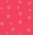 white snowflakes on a pink background seamless vector image vector image