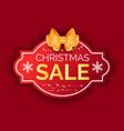 winter holiday postcard christmas sale vector image vector image