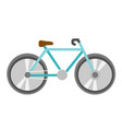 blue bicycle cartoon vector image