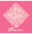Decorative flowers with calligraphic letters vector image