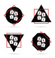 sale icon in red and black color vector image
