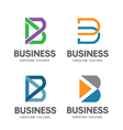 creative B letter concept vector image