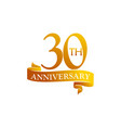 30 year ribbon anniversary vector image vector image