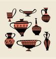 a set images greek traditional vases vector image