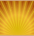 abstract golden sunburst background vector image vector image