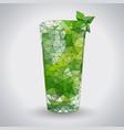 abstract polygonal tirangle cocktail mojito vector image vector image