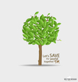Abstract tree with green leaves vector image vector image