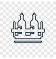 alcoholic drink concept linear icon isolated on vector image