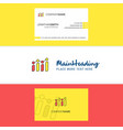beautiful graph logo and business card vertical vector image vector image