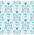 blue wave pattern line shapes with lilac vector image vector image