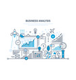 business analysis data analytics and research vector image vector image