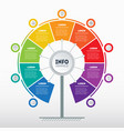 business presentation concept with nine options vector image vector image