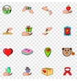 Charity set icons vector image vector image