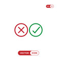 checkmarks icon yes or no sign true or false vector image