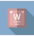 Chemical element Tungsten Flat vector image vector image