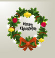 christmas celebration event with decoration design vector image vector image