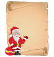 christmas thematic parchment 9 vector image vector image