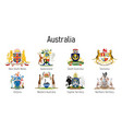 coat arms state australia all vector image vector image