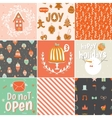Collection of 9 Christmas gift tags and cards vector image vector image