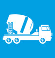concrete mixer truck icon white vector image vector image