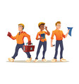 construction workers builder engineer or foreman vector image