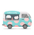 cotton candy street food caravan trailer vector image vector image