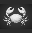 crab chalk drawing on blackboard vector image vector image