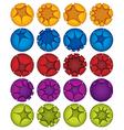 Creative spheres icons set vector image