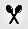 cross spoons icon isolated on white background vector image vector image