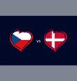 czech republic vs denmark flag emblems vector image vector image