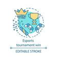 esports tournament win concept icon vector image vector image