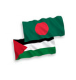 flags palestine and bangladesh on a white