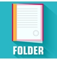 flat folder icon concept design vector image