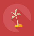 flat modern design with shadow icons palm vector image vector image