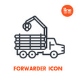 forwarder line icon isolated over white vector image vector image
