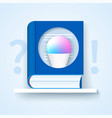 frequently asked questions icon blue book vector image