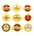 Golden Premium Quality Badges vector image vector image